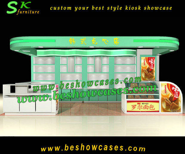 Shopping mall juice bar kiosk retail food kiosk design for cake snack ...