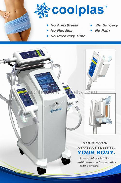 2015 popular new technology Coolplas vacuum cooling beauty Machine ice freezing fat reduce body slimming device
