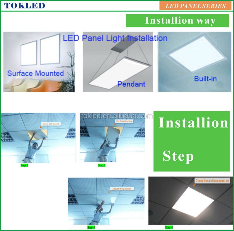 Ul Driver high Brightness 600x600mm 48W led panel