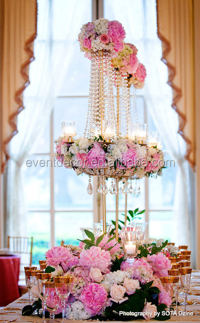High Quality Candelabra Flower Stand Wedding Centerpieces For Wedding Table D