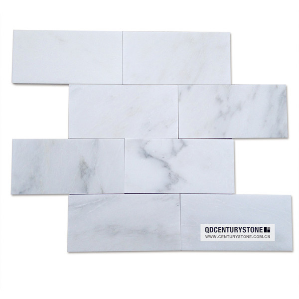 premium asian statuary gray veins cheap china white marble 3x6 subway wall tiles buy marble. Black Bedroom Furniture Sets. Home Design Ideas