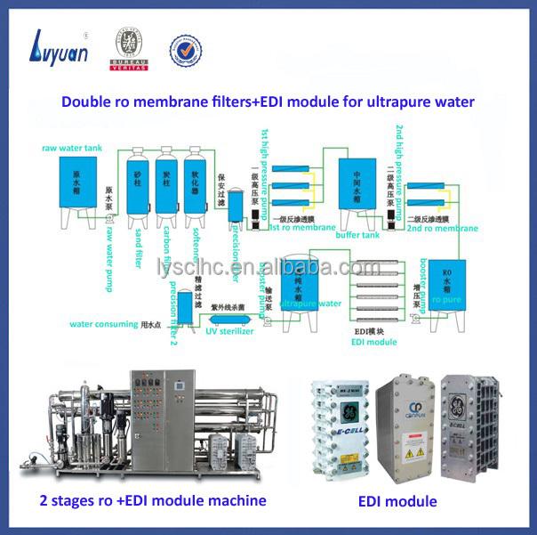 Resistivity 18 Megohm Ro Edi Ultrapure Water System Buy