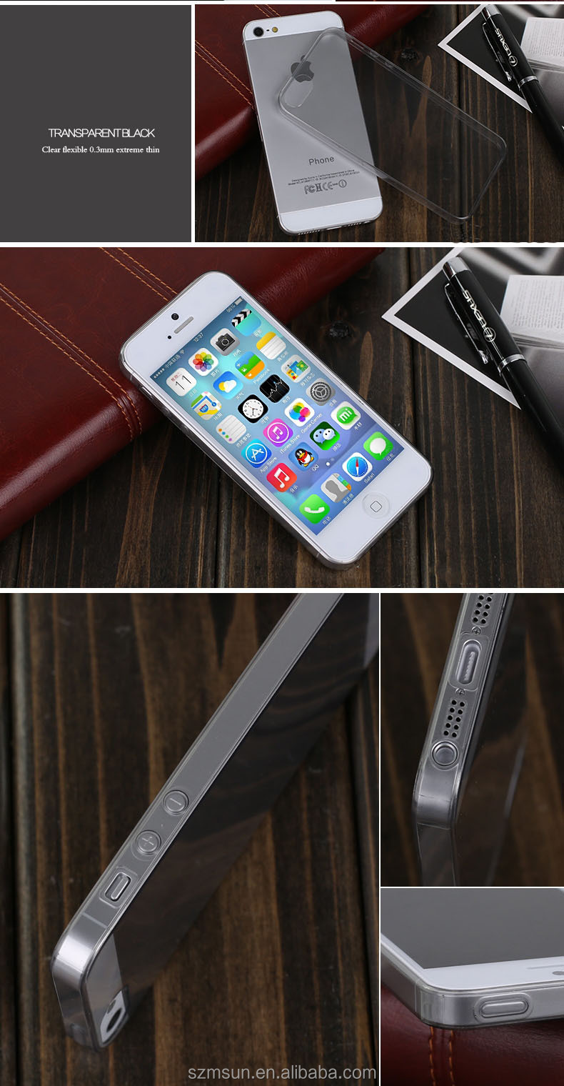 Ultra thin case for iPhone 5 case,flexible TPU for iphone 5 case
