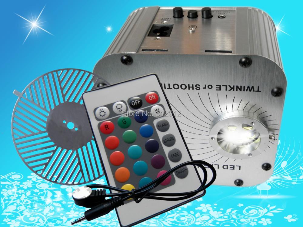"""Купить 27 Вт из светодиодов RGB волоконно-оптический осветитель, С 24key ик-пульт дистанционного и """" водопроводящая """" колеса ; AC100-240V вход"""