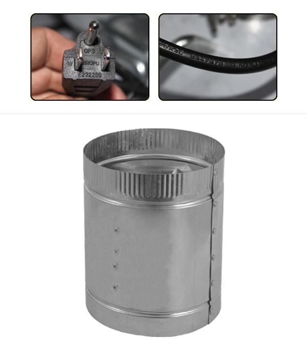 Stainless Steel Inline Fan Motors : Inch stainless steel inline duct booster fan blower for