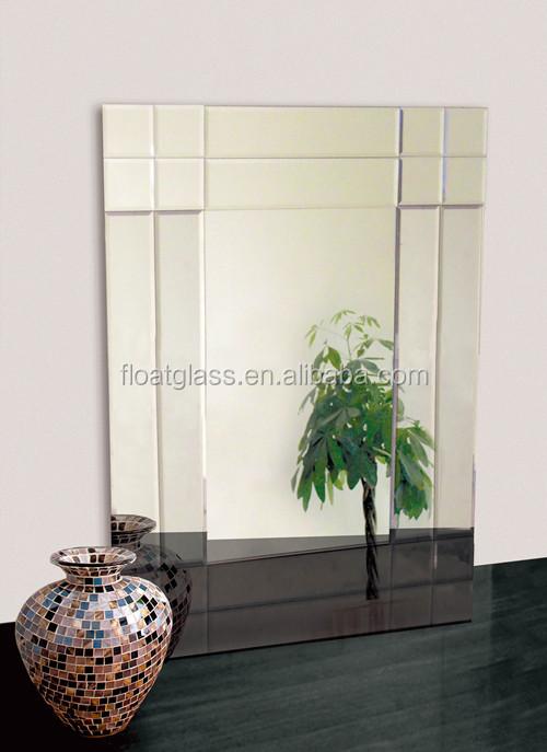 4 mm personnalis pas cher vanity d coratifs grand mur for Miroir biseaute sans cadre