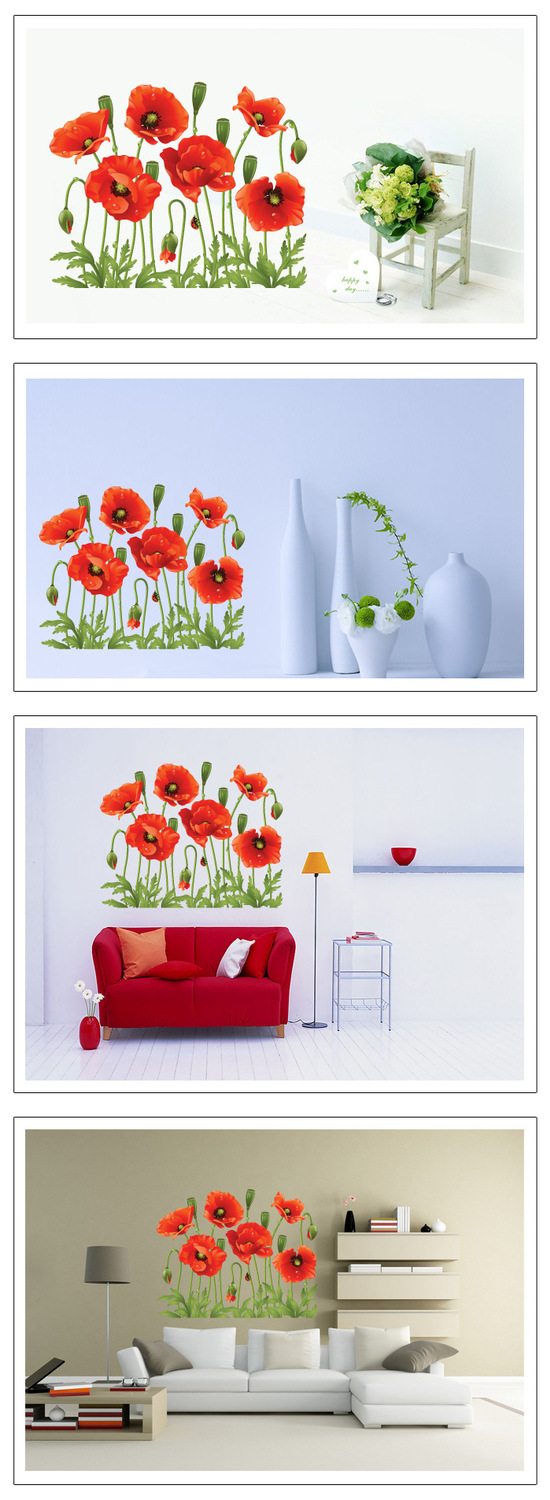 New Red Poppy Removable Wall Stickers Stickers Home Decorators Catalog Best Ideas of Home Decor and Design [homedecoratorscatalog.us]