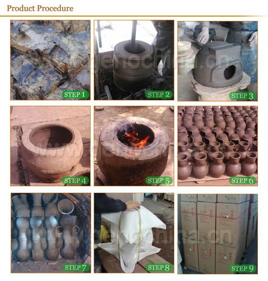 2014 new fashion wholesale outdoor clay chiminea with metal-stand