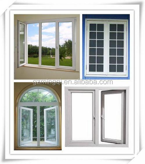 Pvc plastic main door design soundproof cheap horizontal for Jalousie window design