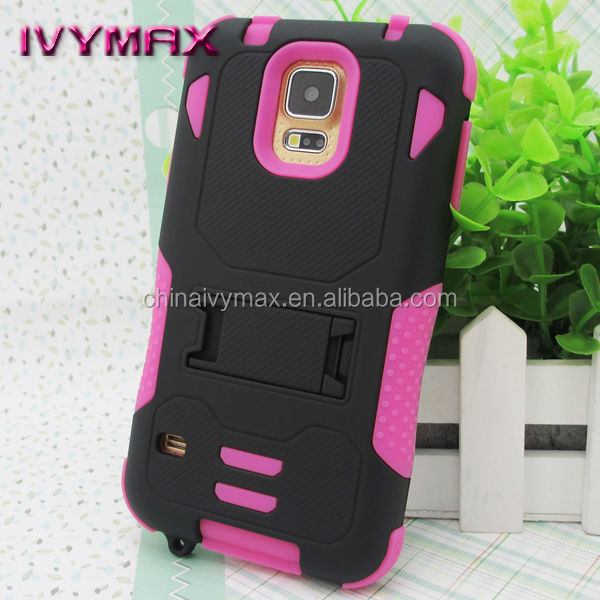 armor combo case for galaxy s5 shockproof phone case