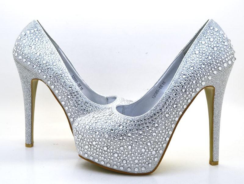 Scarpe Sposa Tacco 15 Argento