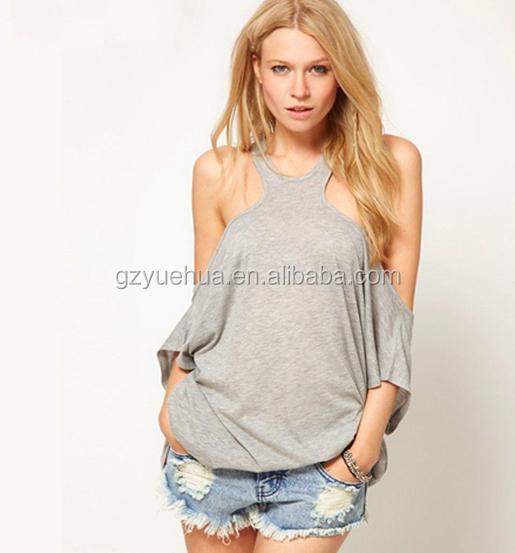 High Neckline Shirts Summer T-shirt Tops High Neck