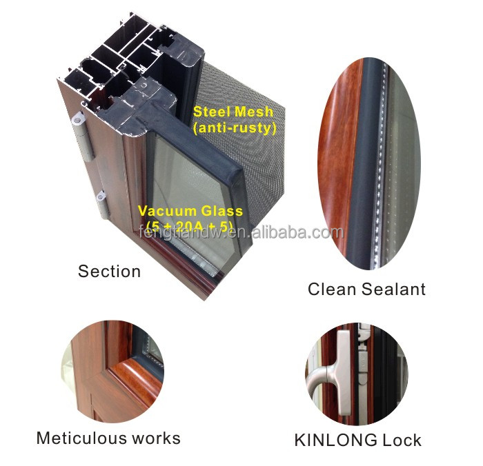 2014 Aluminium security Window/Door with Thermal Break and Double Tempered Glass good resistance