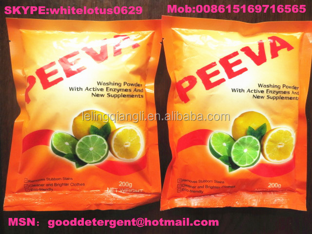 Different types of laundry detergent powder