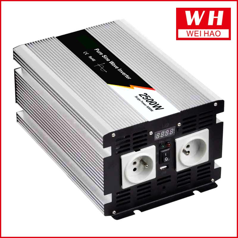 Newtest factory outlet 2500w 12v 110v pure sine wave dc to ac motor inverter