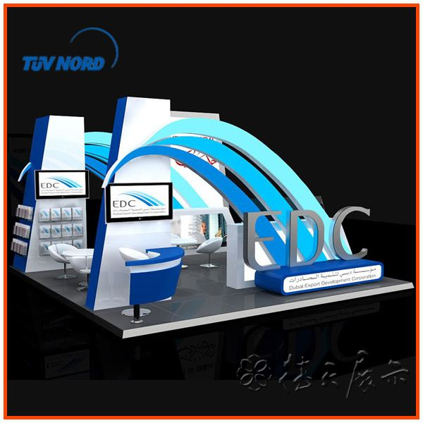 Stall Size For Exhibition : Trade show booth stand view