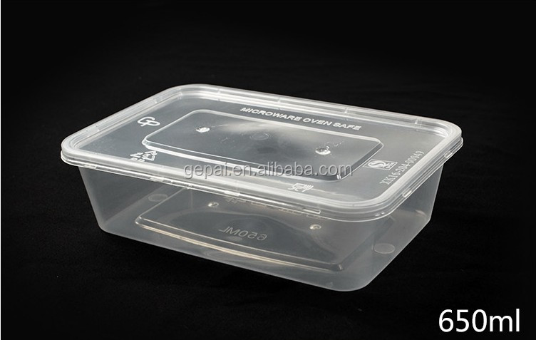 jetable emporter r cipient en plastique alimentaire bo te avec couvercle bo tes caisses de. Black Bedroom Furniture Sets. Home Design Ideas