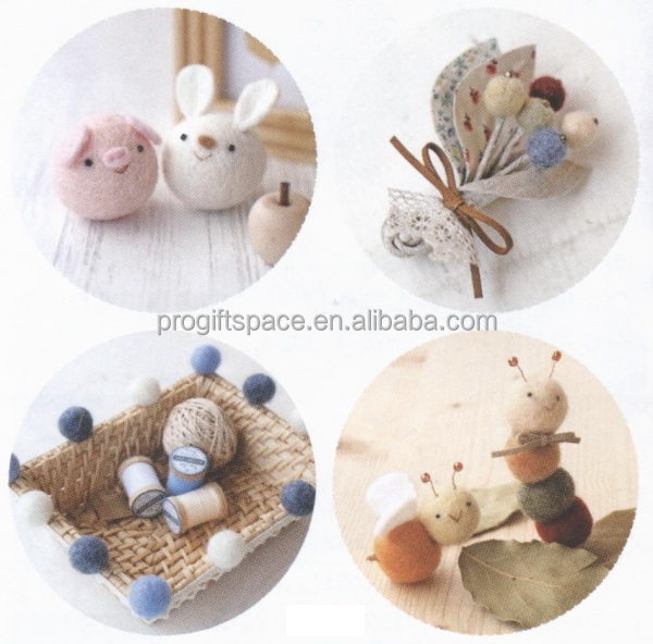 Wholesale High Quality Handmade 2cm 100 Wool Felt Ball Rugs Wholesale For Diy China Home