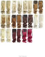 Лента хвост синтетические шиньоны волос расширение 27 цветов доступны 22-дюймовый 80grams