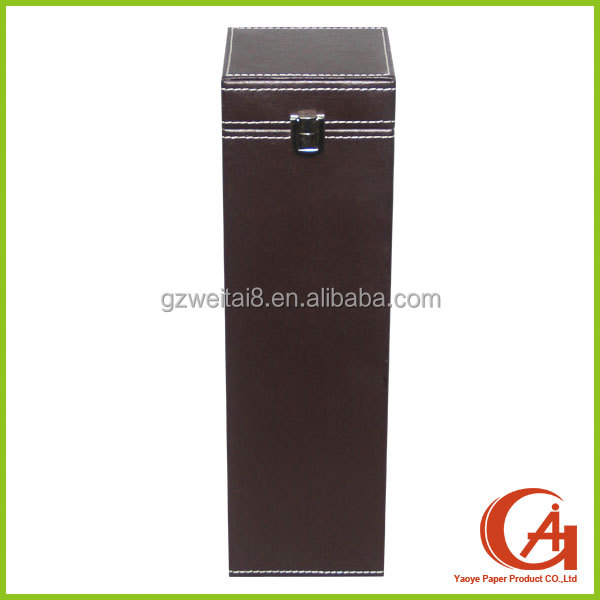 high-end wine leather box, leather wine carrier