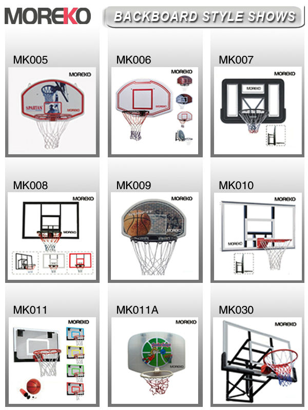 "Wall Mounting 44"" Acrylic Basketbal Backboard With Steel Bracket MK007"