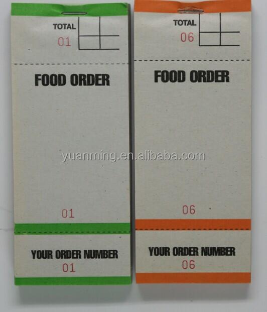 Pads Food Waiter Food Order Pads