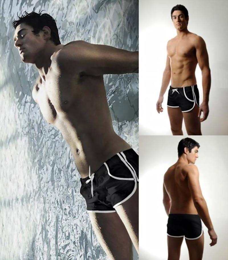 2014 Brand Mens Swimwear Swimming trunks Sexy Slim flexible boxer Men bathing trunks for briefs man beach Shorts