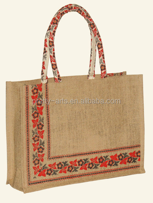 2014 beautiful high quality customized reusable jute gunny bag new arrive