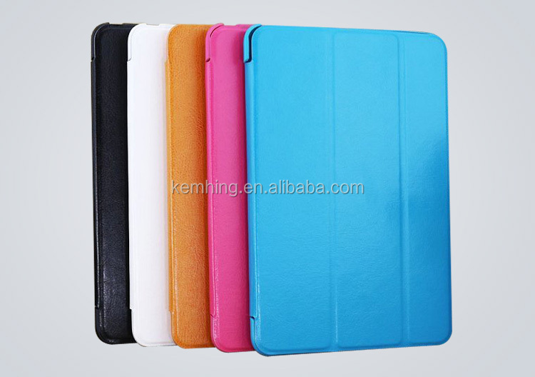 3 folding flip leather case for iPad 5 AIR smart cover stand case