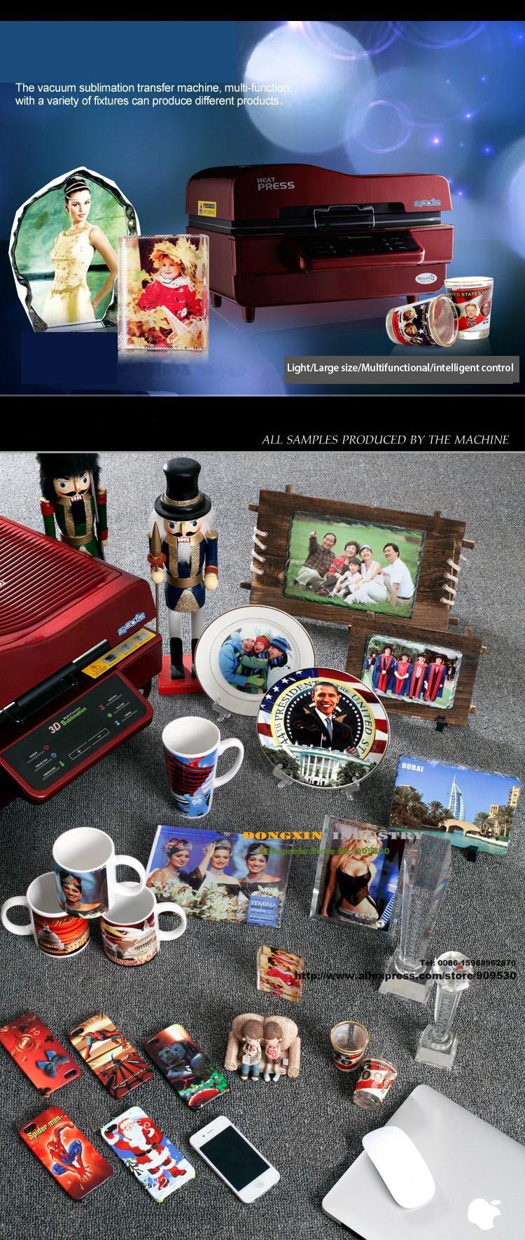 Купить Бесплатная доставка 3D Кружка Сублимации Машины 3D многофункциональный тепла печатная машина 110 В/220 В Кружка Пресс машина DX-048