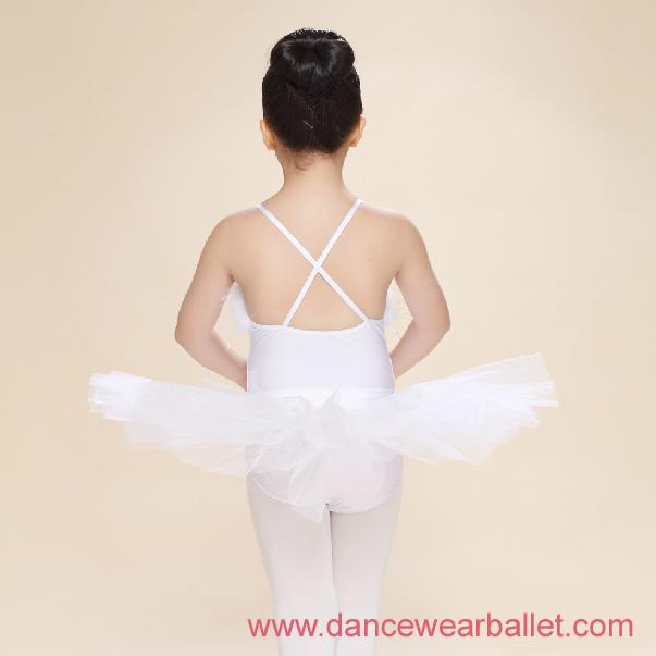 Children Fairy Princess Swan Lake Feather Sequin Dance Ballet Costumes Tutu 2