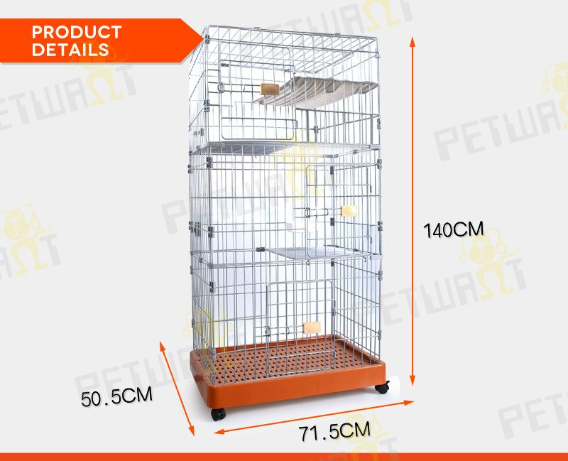 Three layer dog cage crate