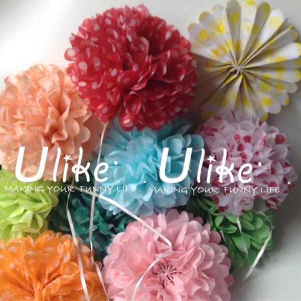 Polka dots hanging tissue paper pom pomsartificial wedding ulk p1325mmg mightylinksfo