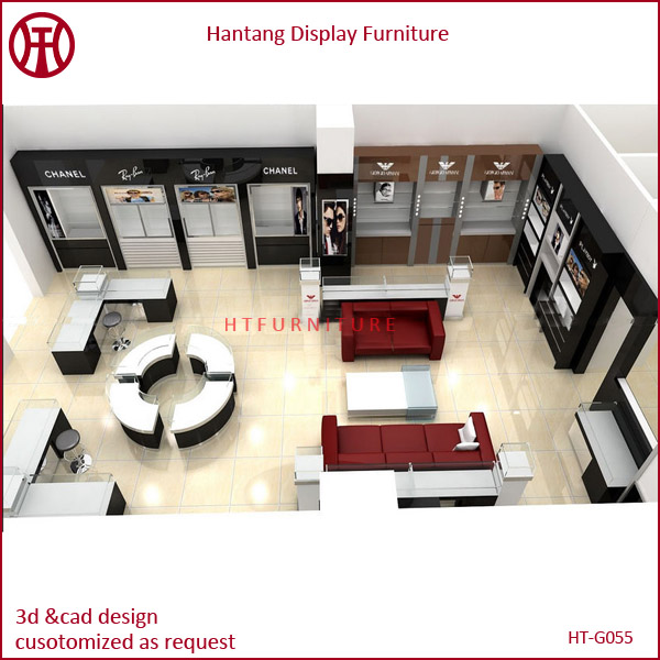 Optical shop furniture with interior design for sale view for A t design decoration co ltd