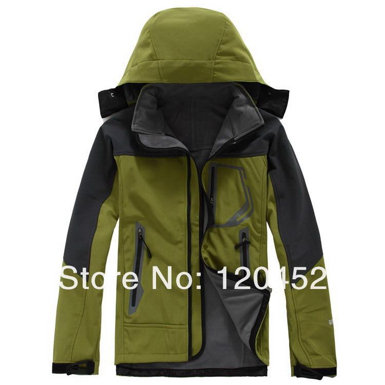 Мужчины Открытый спортивной softshell куртка Толстовки водонепроницаемый ветрозащитный пальто 6 цветов на выбор