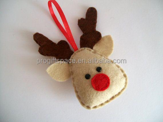 Peluches hechos con fieltro imagui - Adornos de navidad hechos a mano por ninos ...
