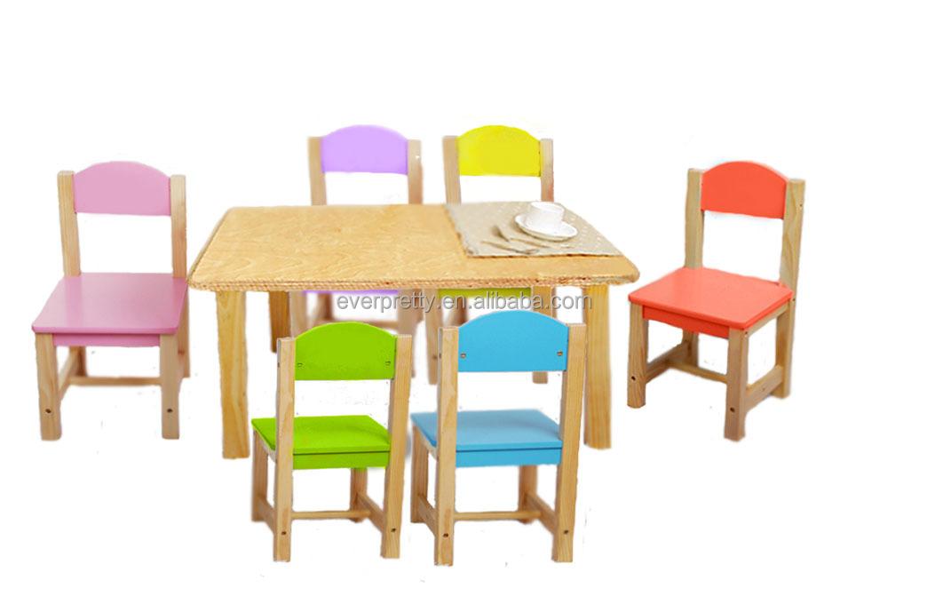 Bois mini table et chaise bois massif enfants table et for Chaise enfant bois