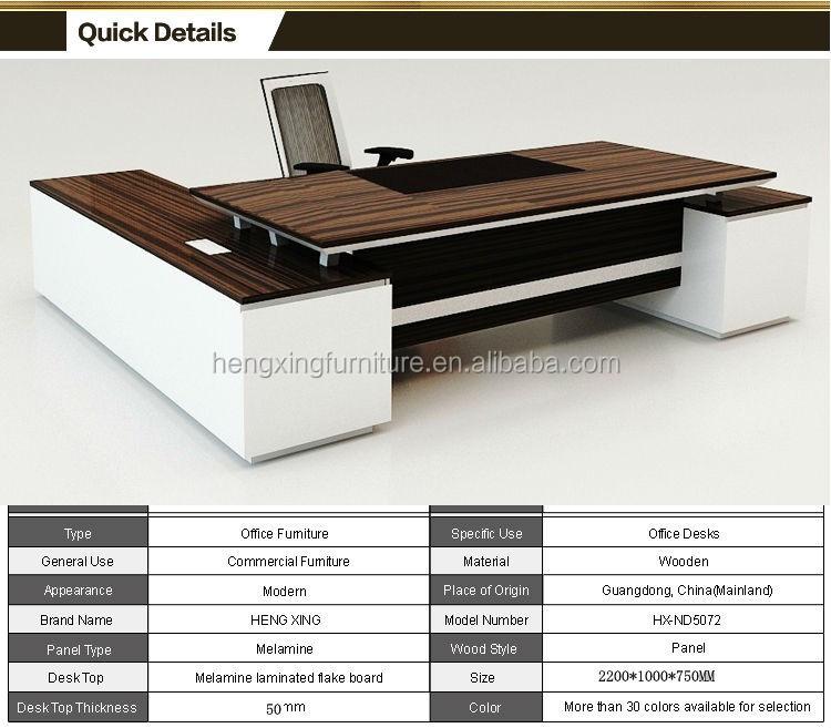Hohe qualität chef büromöbel lieferanten hx-nd010-Holztisch ...