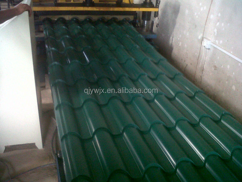 QJ Color Steel Step Roof Tile Roll Forming Machine