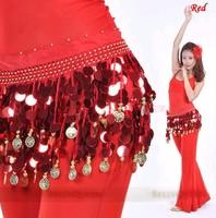 моды кристалла с блестками монет танец живота хип шарф обернуть ремень пояса юбки