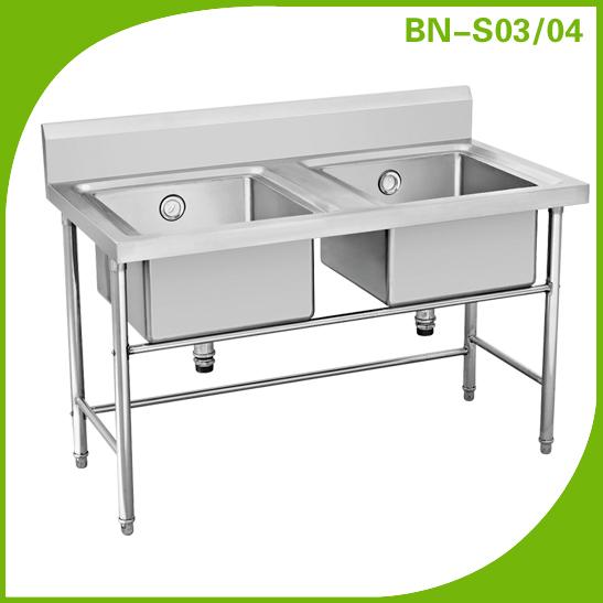 Restaurant kitchen sink/ stainless steel sink with drain desk/ wash ...