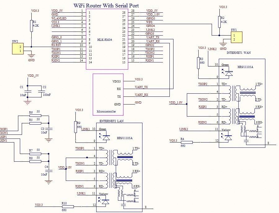 Схема wifi роутера