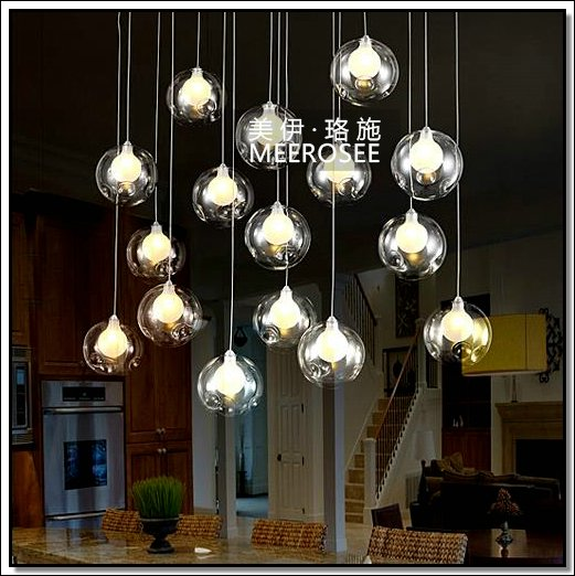 Nouveau style lampes verre lighting luminaire suspendu for Lustre suspendu design