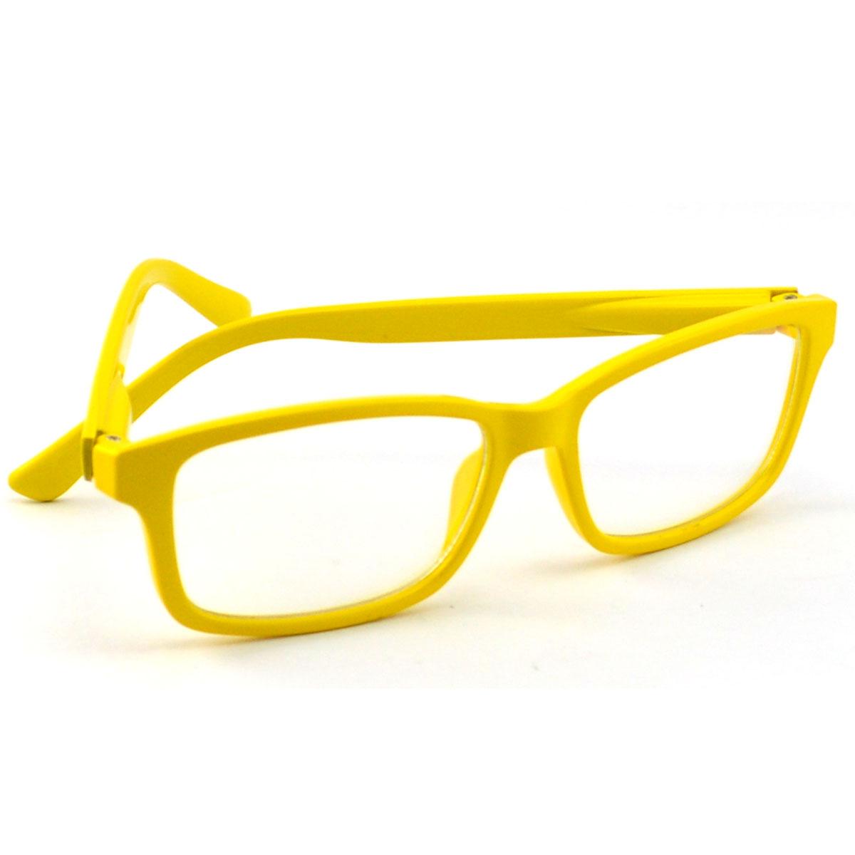 2014 hermoso color amarillo de la computadora marco de gafas ópticas ...