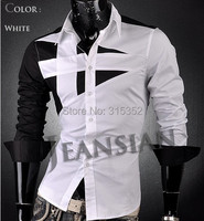 Мужская повседневная рубашка Luyi : m/xxxxl 4colors, Slim fit 011
