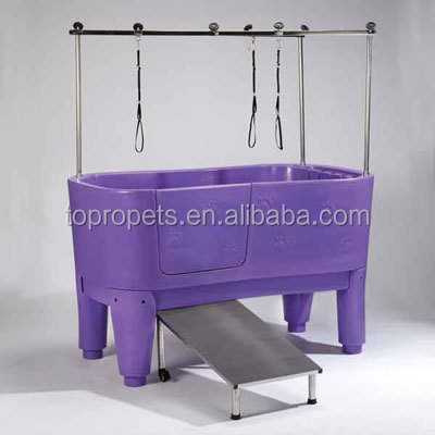 Pet Dog Bath Tub Pet Grooming Station Elevated Bathtub Booster Shower