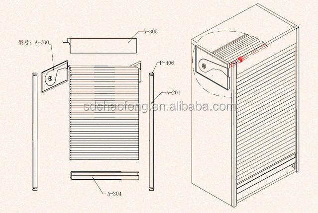 Hoge kwaliteit keuken kast met rolluik deur te koop van shunde andere meubels delen product id - Deur kast garagedeur ...