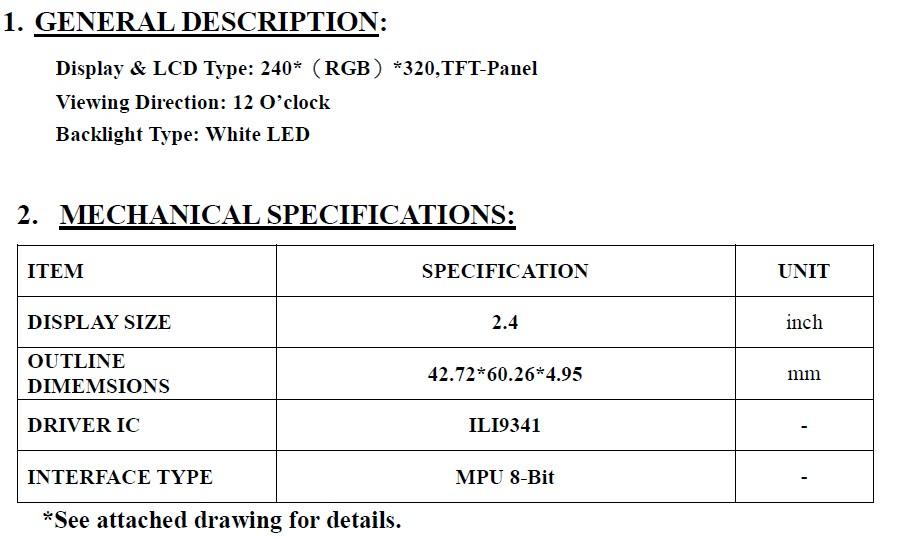 SAEF Hot Sales QVGA 240x320 resolution 2.4 inch tft lcd module ...