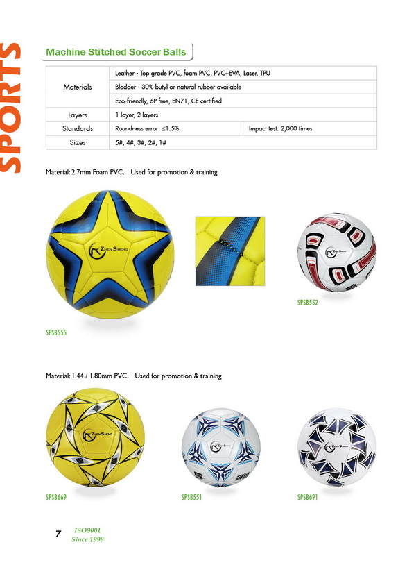 machine stitched soccer for promotion