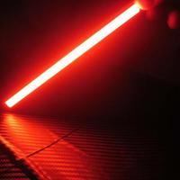 2шт супер яркий коксовой батареи автомобиля днем туман водонепроницаемый 12v 17 см красного света